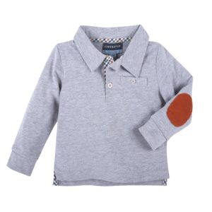 Andy & Evan Gray Elbow Patch Polo