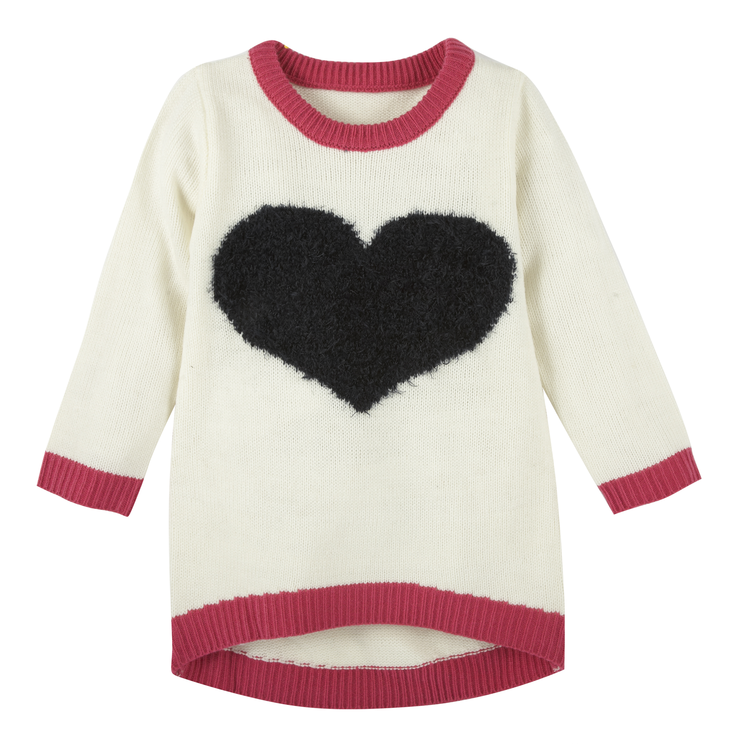 Andy & Evan Fuzzy Heart tunic | Olive and Gray