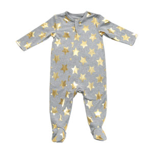 Egg Gold Star Footie Romper