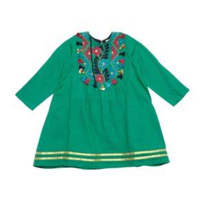 Pink Chicken Juliet Dress Emerald Green
