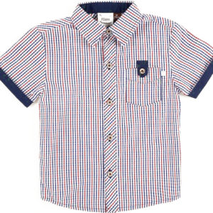 Fore Axel and Hudson Navy Red Plaid Button Up