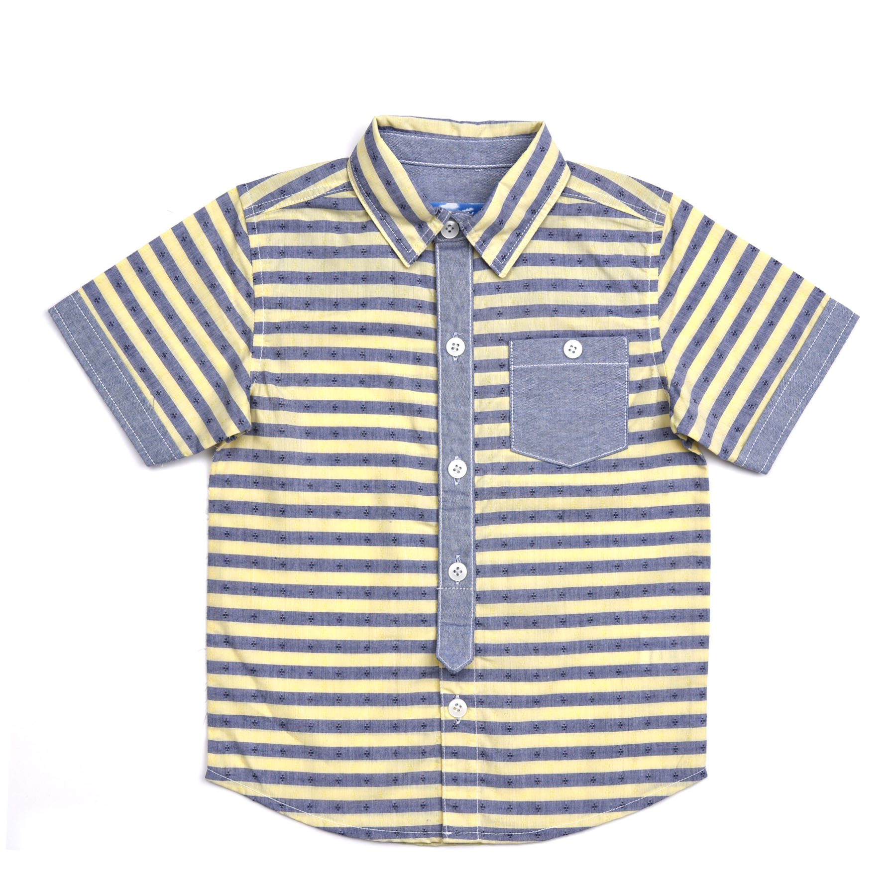 Kapital K Striped Chambray Button-up   Olive and Gray